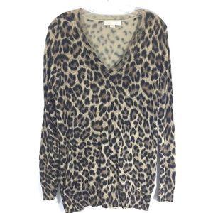 MICHAEL KORS || cheetah leopard animal sweater